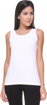 Alibi By Inmark Casual Sleeveless Solid Women,s White Top