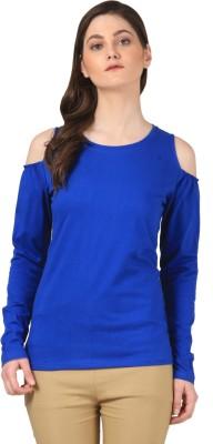 FashionExpo Casual Full Sleeve Solid Women's Dark Blue Top