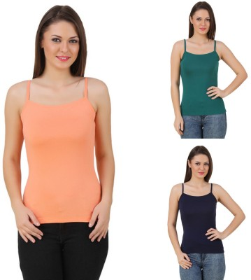 99DailyDeals Casual, Party, Sports, Festive, Beach Wear Sleeveless Solid Women's Multicolor Top