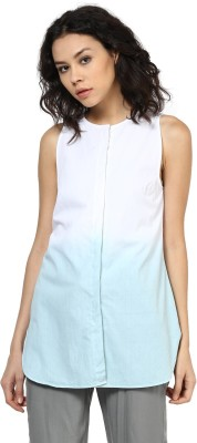 Roving Mode Casual Sleeveless Solid Women's White Top