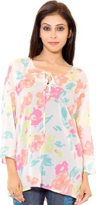 Eleganceranuka Party 3/4 Sleeve Printed Women's Multicolor Top
