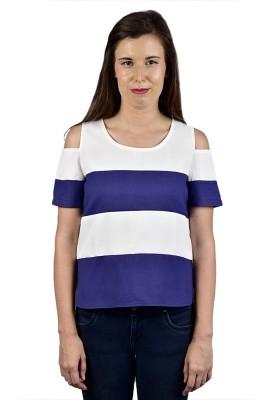 Saffora Fashion Casual Short Sleeve Solid Women's Multicolor Top