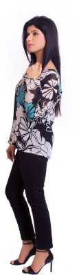Feathers Closet Casual Full Sleeve Floral Print Women's Multicolor Top