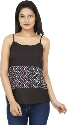 Today Fashion Casual Sleeveless Printed Women's Black, Pink Top