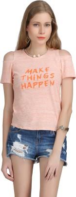 Bainy Casual Full Sleeve Solid Women,s Orange Top