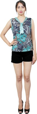 E Syrus Casual Sleeveless Floral Print Women,s Multicolor Top