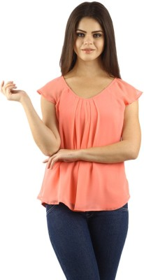 Uptowngaleria Casual Short Sleeve Woven Women's Pink Top