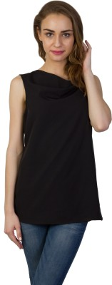 Today Fashion Casual Sleeveless Solid Women's Black Top