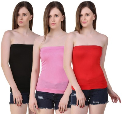 99DailyDeals Casual, Party, Lounge Wear, Beach Wear, Sports Sleeveless Solid Women's Pink, Black, Red Top