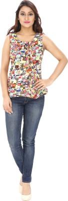 Rashi Creation Party Sleeveless Printed Women's Multicolor Top
