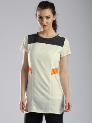 HRX by Hrithik Roshan Casual Short Sleeve Solid Women's White Top