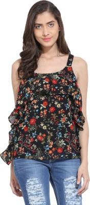 Ama Bella Casual Sleeveless Floral Print Women's Multicolor Top