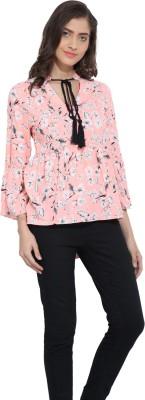 Ama Bella Casual 3/4 Sleeve Printed Women's Multicolor Top