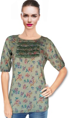 BeforeAfter Casual 3/4 Sleeve Floral Print Women's Multicolor Top