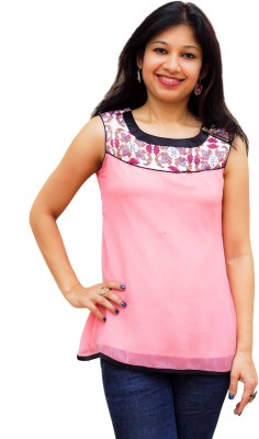 Emithilahaat Casual, Festive Sleeveless Printed Women's Multicolor Top