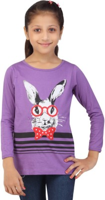 Life by Shoppers Stop Casual Full Sleeve Self Design Girl's Purple Top