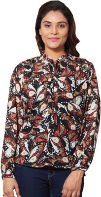 Prakum Casual Full Sleeve Printed Women,s Multicolor Top
