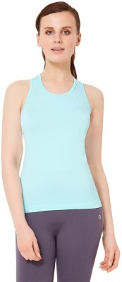 Amante Sports Sleeveless Solid Women's Light Blue Top