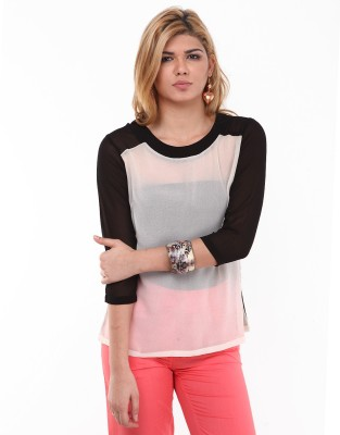 Kaxiaa Casual Full Sleeve Solid Women's Black Top