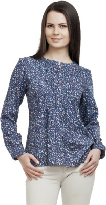 ORIANNE Casual Full Sleeve Floral Print Women's Multicolor Top