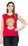 Le Bison Casual Sleeveless Printed Women...