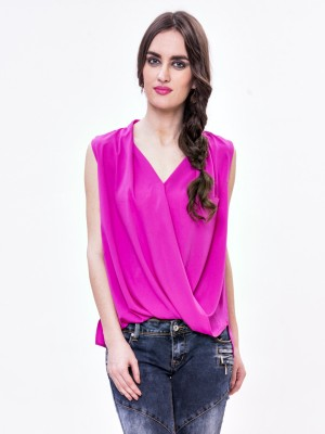 Envy Me Casual Sleeveless Solid Women,s Pink Top