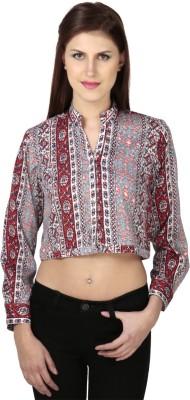 Dessara Formal Full Sleeve Printed Women's Multicolor Top