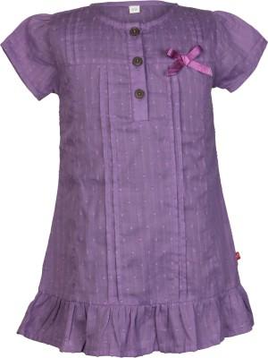Nino Bambino Casual Puff Sleeve Solid Girl's Purple Top