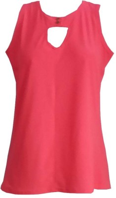 FS Party Sleeveless Solid Women's Pink Top