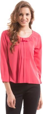 Prym Casual 3/4 Sleeve Self Design Women's Pink Top
