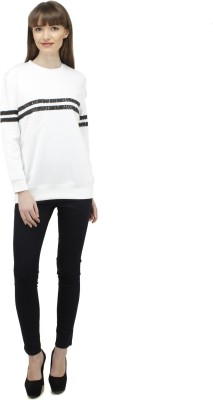 Pab Jules Casual Full Sleeve Solid Women's White Top