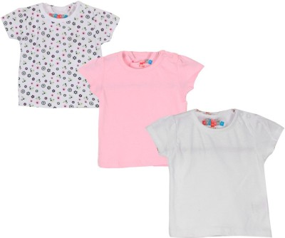 Day 2 Day Casual Short Sleeve Solid White, Pink Top