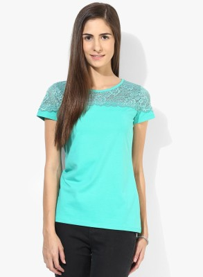 Tshirt Company Casual Sleeveless Solid Women's Green Top