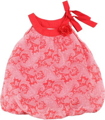 Soul Fairy Party Sleeveless Paisley Baby Girl's Red Top