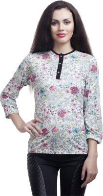 Five Stone Casual 3/4 Sleeve Paisley Girl's Multicolor Top