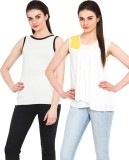 Northern Lights Casual Sleeveless Solid ...
