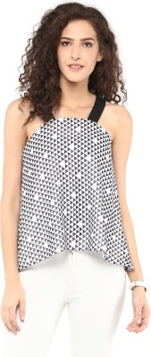 Roving Mode Casual Sleeveless Printed Women's Multicolor Top