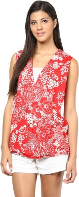 Shwetna Casual Sleeveless Printed Women's Red Top