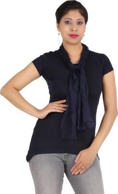 Harsha Casual Short Sleeve Solid Women's Black Top