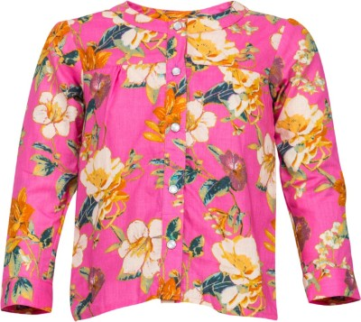 Buttercups Casual Full Sleeve Printed Girl's Pink Top