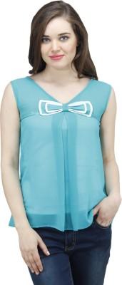 Osumfab Casual Sleeveless Solid Women's Green Top