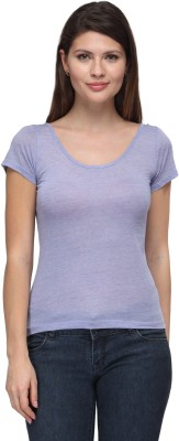 Fw Collection Casual Short Sleeve Solid Women's Purple Top