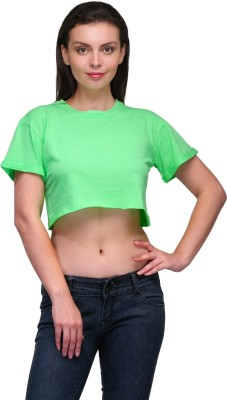 Zachi Casual Short Sleeve Solid Women's Light Green Top