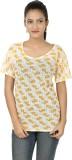 Clo Clu Casual Short Sleeve Printed Wome...