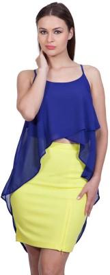 Stylestone Casual, Formal, Lounge Wear, Beach Wear, Party Sleeveless Solid Women's Blue Top