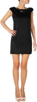 Karmik Casual Sleeveless Solid Women's Black Top