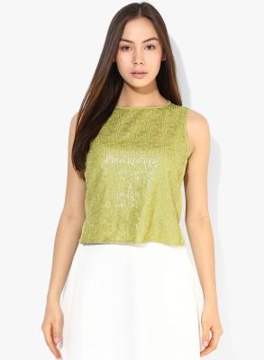 Vero Moda Casual Sleeveless Embellished Women's Green Top