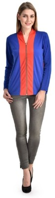 PINK SISLY Casual Full Sleeve Solid Women's Red, Blue Top