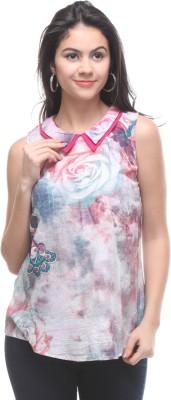 Kaxiaa Casual Sleeveless Printed Women's Multicolor Top