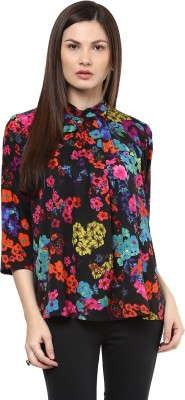 Shakumbhari Casual 3/4 Sleeve Printed Women's Multicolor Top